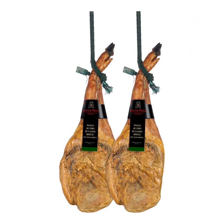 SALE! 2 Cebo de Campo 50% Iberian Shoulder Hams