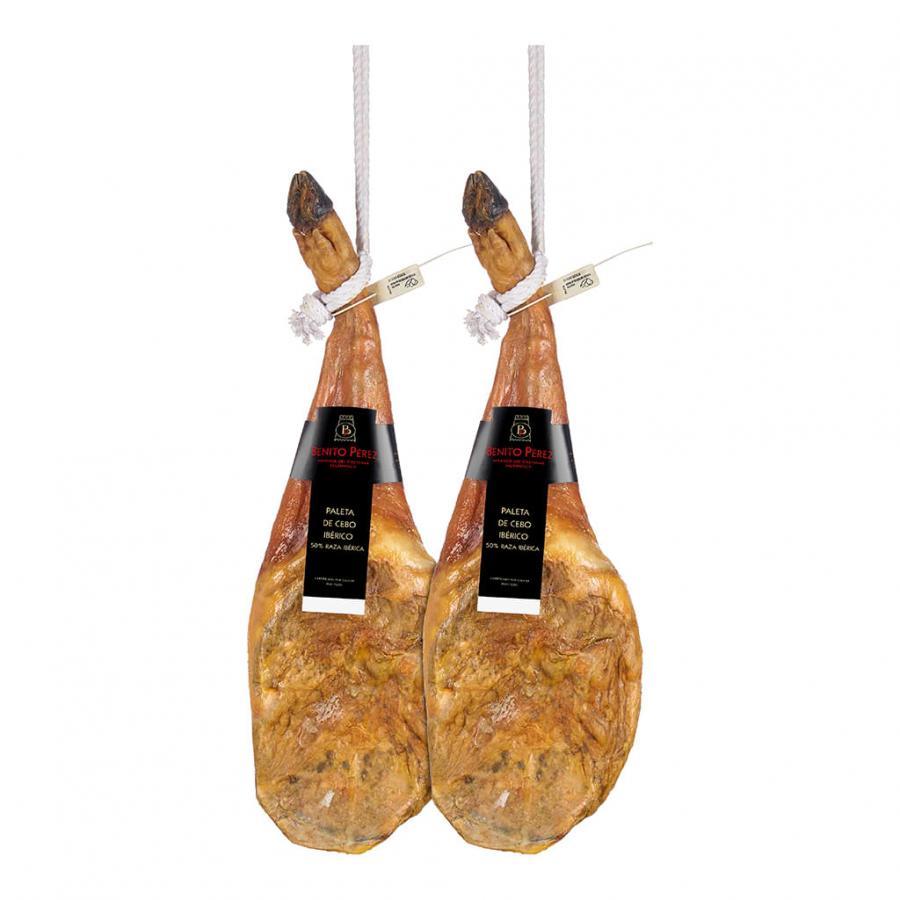 SALE! 2 Cebo 50% Iberian Shoulder Hams